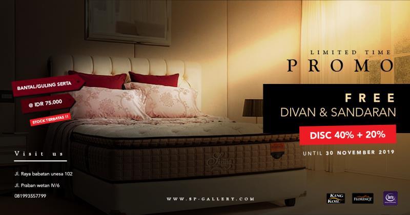 Promo In-Store Spring Bed Brand Kingkoil, Florence, dan Serta SP Gallery