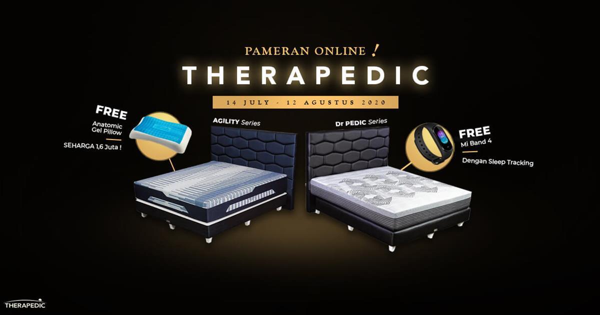 Pameran Online SP Gallery, Promo Therapedic Brand Matras Kesehatan Terkemuka
