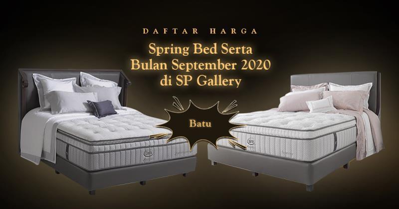 Harga Spring Bed Serta Batu September 2020 di SP Gallery