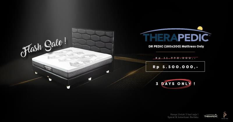 Hanya 3 Hari! Special Flashsale Spring Bed Therapedic Dr Pedic