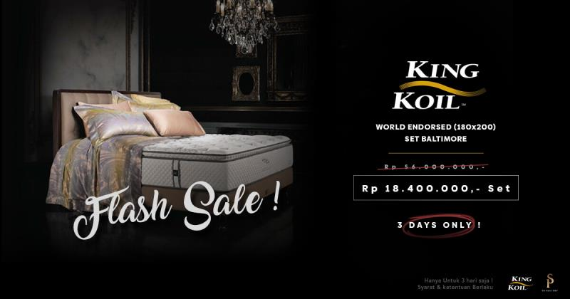 Flash Sale King Koil World Endorsed dari SP Gallery, Hanya 3 Hari!